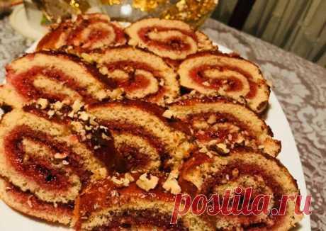 (5) Рулет с вареньем и орехами - пошаговый рецепт с фото. Автор рецепта Amal' . - Cookpad