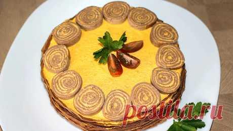 Украшение праздничного стола - Закусочный торт из куриной печени 🎄 Новогоднее меню 2020 | IrinaCooking | Яндекс Дзен