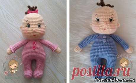 Кукла пупсик амигуруми. МК | Вязаные игрушки.