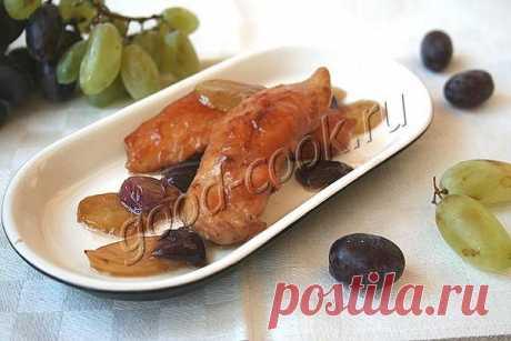Курица жареная с виноградом по-итальянски. Рецепт приготовления