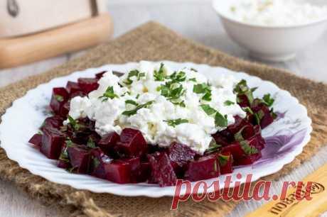 Салат из свеклы с творогом - пошаговый рецепт с фото на Повар.ру
