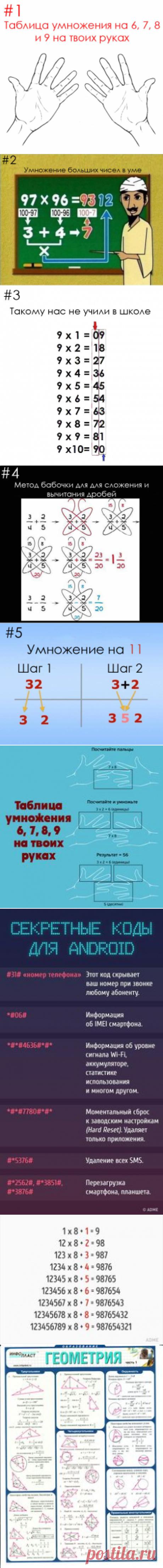 Простые математические трюки | Полезные советы | Search and Posts