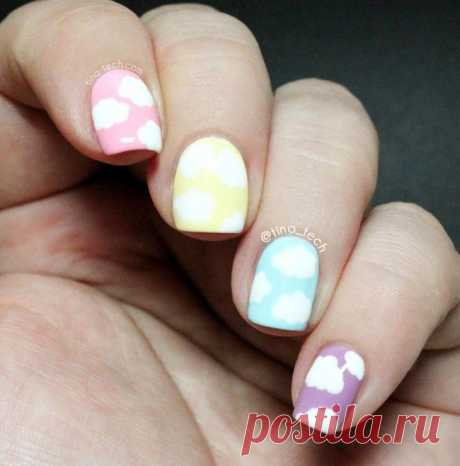 To spring road: 35 ideas of gentle pastel manicure