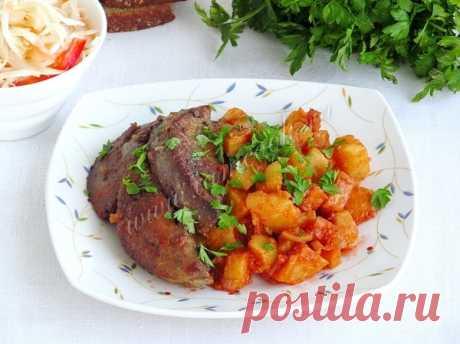 Жаркое из печени — рецепт с фото на Русском, пошагово. Как приготовить жаркое из свиной или говяжьей печени с картофелем в горшочках?