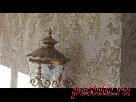Декоративная отделка камнем травертин из штукатурки OIKOS