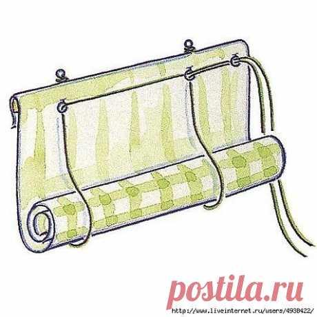 Рулонная штора на пластиковое окно / Необычные поделки