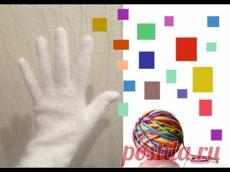 Перчатки на вязальной машине - YouTube