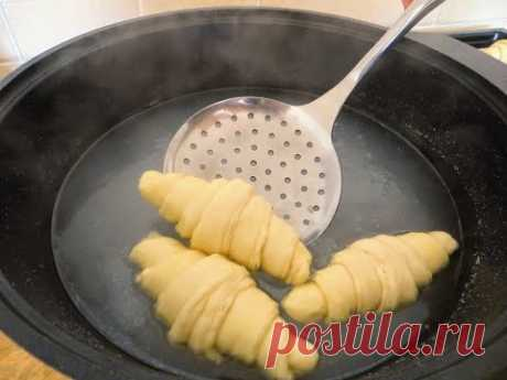 Просто ошпариваем тесто содой / Удивительно слоеные рогалики (круассаны)