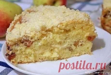 Почти шарлотка- но вкуснее!Домашний яблочный пирог.