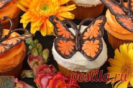 Кондитерские бабочки: мастер-класс
