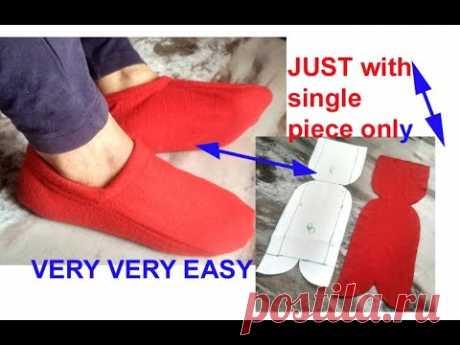 10 minutes easy  - गर्म ऊनी मोजे बनाए पुराने कपड़े से / winter socks boots for ladies/ girls / kids