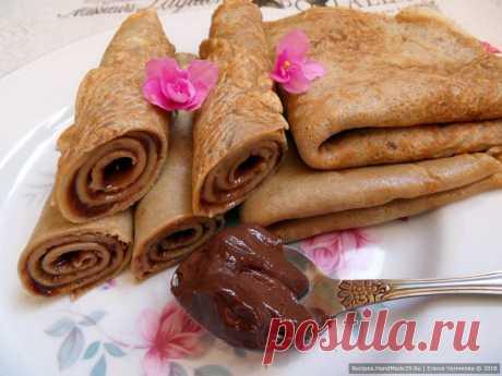 Кофейные блины с начинкой – пошаговый кулинарный рецепт с фото