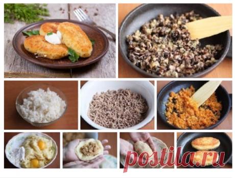 Картофельные зразы с мясом или с грибами
