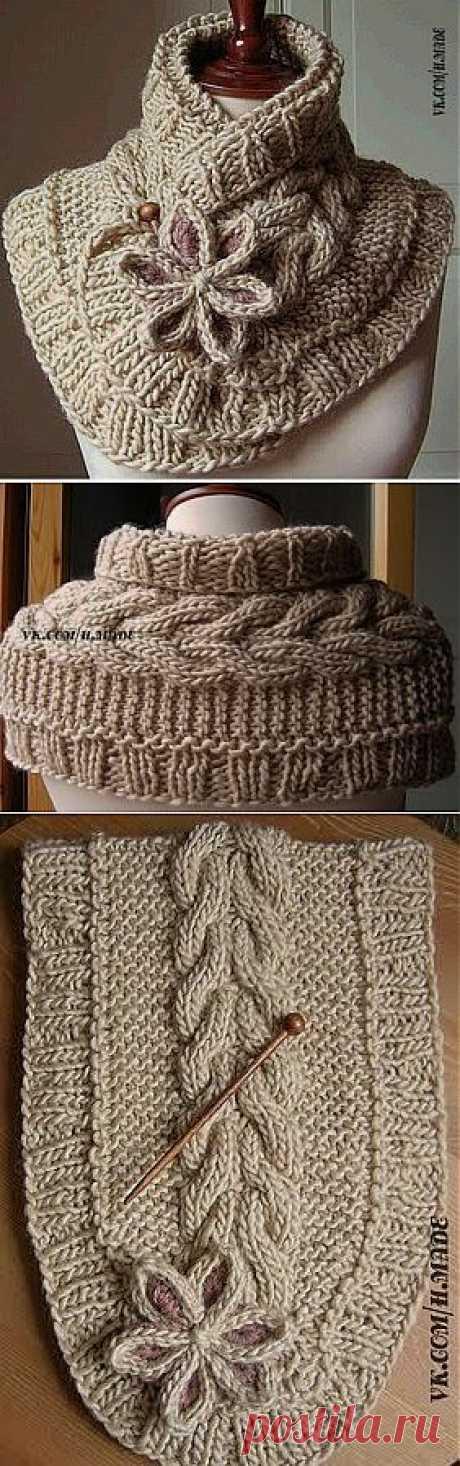 Очень красивый шарф | Умелые ручки