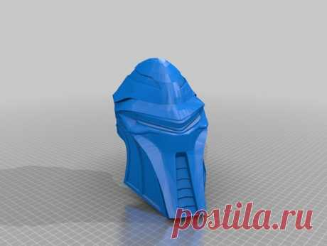 """Cylon Helmet by Jace1969 An old file from my Pepakura making days that I discovered in Pepakura Designer you can export to .OBJ and in """"Windows 10 3DBuilder or 123Design"""" export to .STL. Unfortunately I don't have the skills yet to improve further on the model, but maybe someone out there would like to tidy it up. Please upload it back as a remix if you do take the time to clean it up. Please note this was originally uploaded to the net as a free down load. So I cant take ..."""