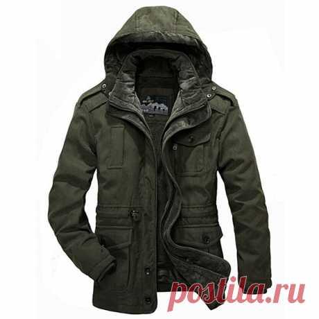 Мужские двусторонние зимние уличные повседневные утепленные пальто, теплая куртка с капюшоном большого размера - US $ 130,59