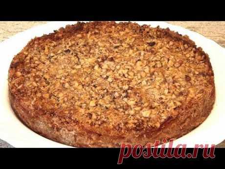 Болгарский насыпной яблочный пирог. Очень простой в приготовлении /Bulgarian apple pie (Eng subs)