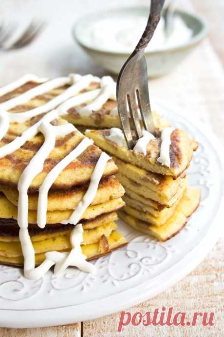 Low Carb Cinnamon Roll Pancakes – Sugar Free Londoner These fluffy low carb pancakes with a cinnamon swirl and sugar free cream cheese frosting are sure to be a hit at the breakfast table! Keto and gluten free.