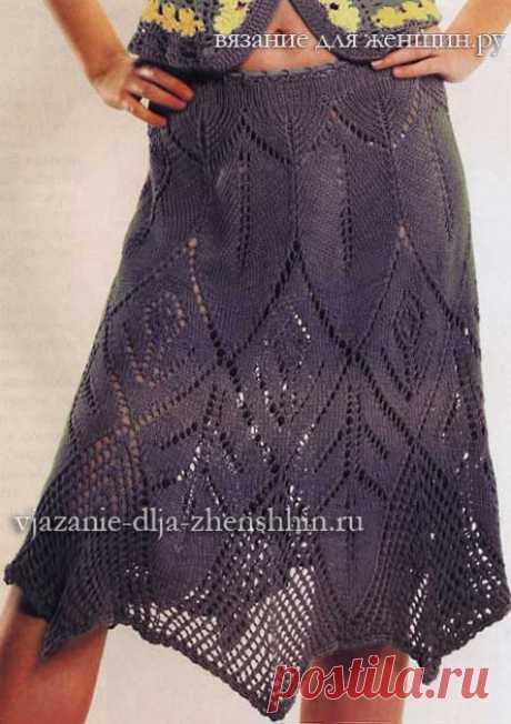 Вязаные юбки модные модели вязания 2018 для женщин