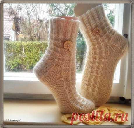 Удачный узор для вязания носков
