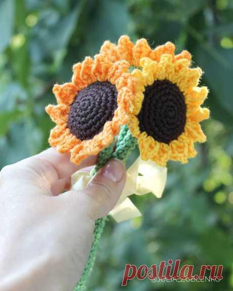СХЕМА вязания цветка подсолнуха крючком амигуруми #amigurumi #схемыамигуруми #вязанаяигрушка #игрушкикрючком #amigurumipattern #crochetpattern