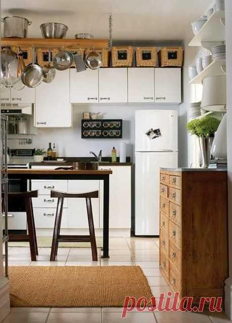 Советы, которые помогут поместить на территории вашей небольшой кухни буквально всё, о чем вы мечтали