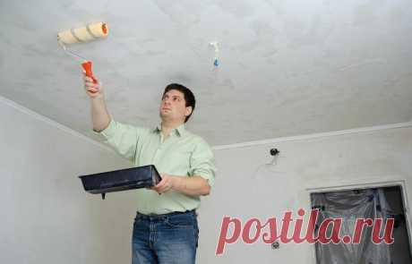 Делюсь секретом: как без проблем снять побелку с потолка