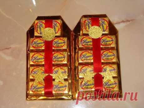Подарки из конфет на 23 февраля для настоящих мужчин
