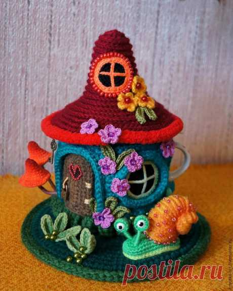 """We knit a hot-water bottle on a teapot \""""A fantastic lodge\"""". Part 2 - the Fair of Masters - handwork, handmade"""