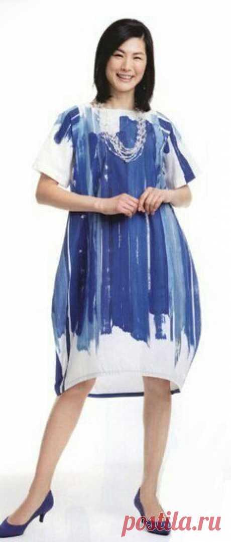 Выкройка платья-кокон Модная одежда и дизайн интерьера своими руками