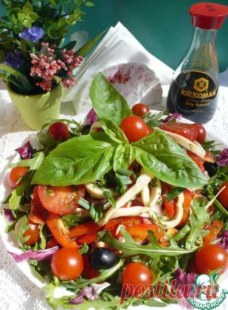 Постный салат с кальмарами - кулинарный рецепт