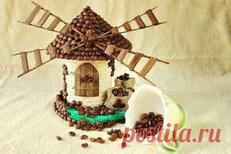 Мельница из бечевки и баночки кофе