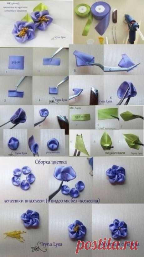 Уроки вышивки атласными лентами