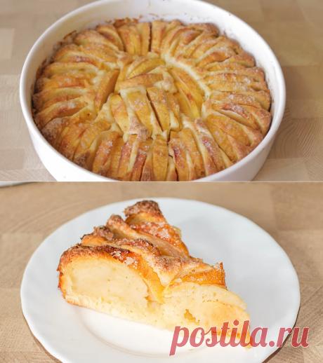 Пеку через день яблочный пирог с хрустящей корочкой и не надоедает. Быстрая выпечка с яблоками