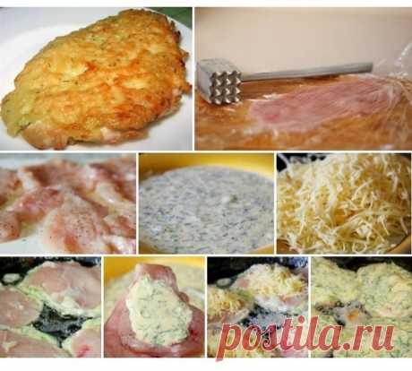 Рецепт куриных отбивных с сыром
