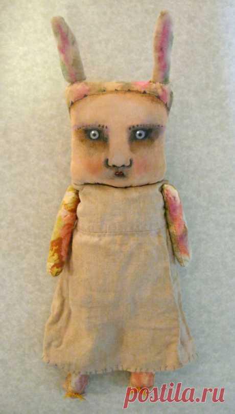 rabbit girl doll odd art doll original doll bunny от sandymastroni
