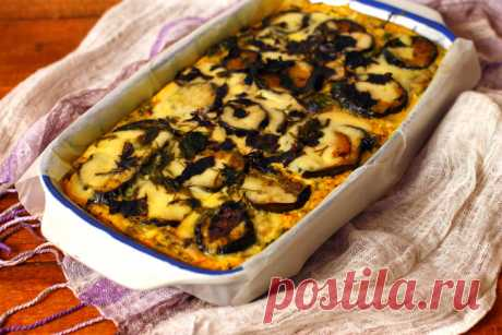 Запеканка с грибами, баклажанами и картофельным пюре — Sloosh – кулинарные рецепты
