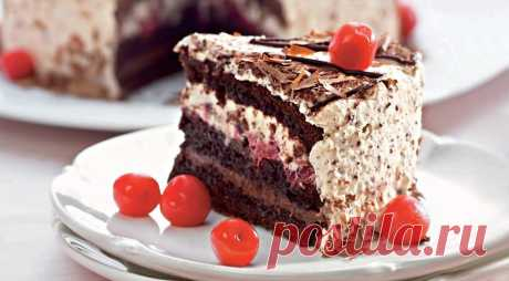 How to make ideal chocolate cake with cherry