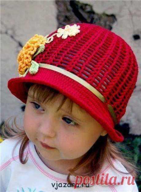Шляпка-панамка крючком для девочки 5-6 лет, схема и описание | Вязана.ru