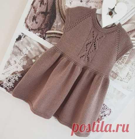 Вязаные детские платья. Почти 30 схем вязания детского платья спицами на Knitka.ru бесплатно.