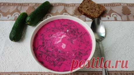 Рецепт Холодный литовский суп за 10 минут