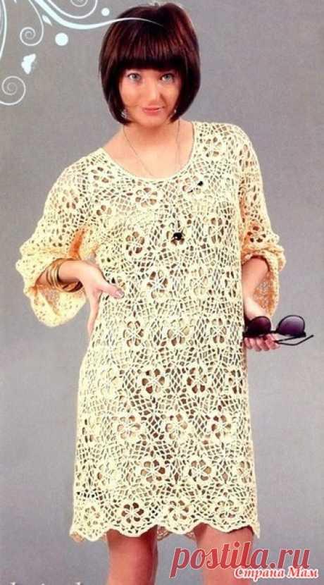 Платье из цветочных мотивов - Все в ажуре... (вязание крючком) - Страна Мам