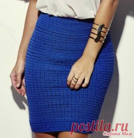 . Плотный узор для юбки крючком - Вязание - Страна Мам