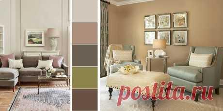 Гостиная, оформленная бежевыми обоями: варианты отделки, лучшие цветовые сочетания | Dream house | Яндекс Дзен