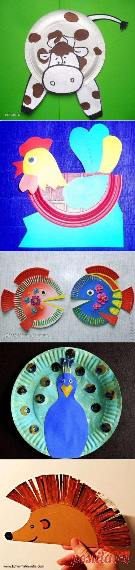 Поделки с детьми из одноразовой тарелки