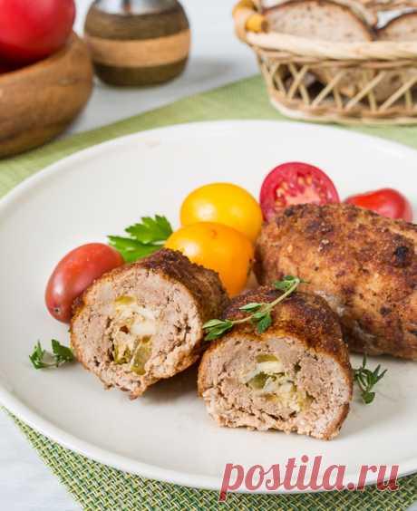 Свиные зразы с солеными огурцами   Вкусный блог - рецепты под настроение