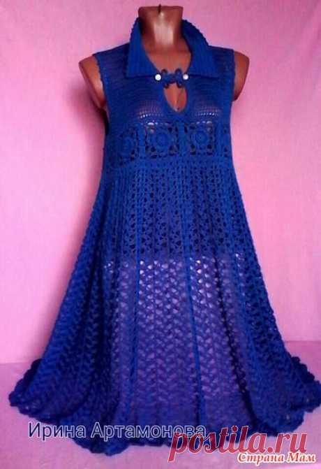Платье - туника крючком. Автор Ирина Артамонова.