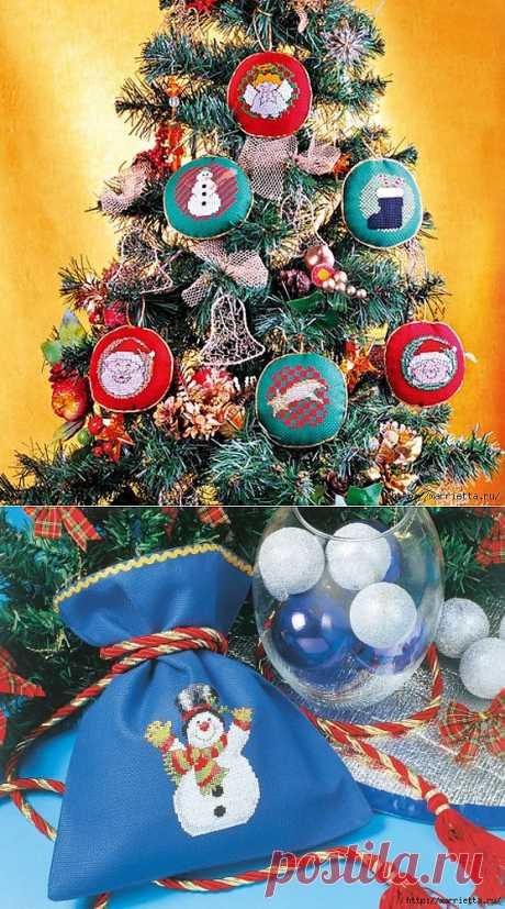 Рождественская вышивка. Схемы.