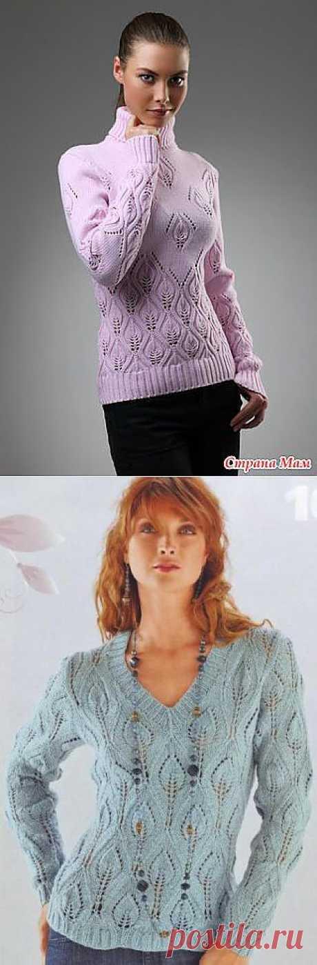 свитер с примерным описанием и схемой.