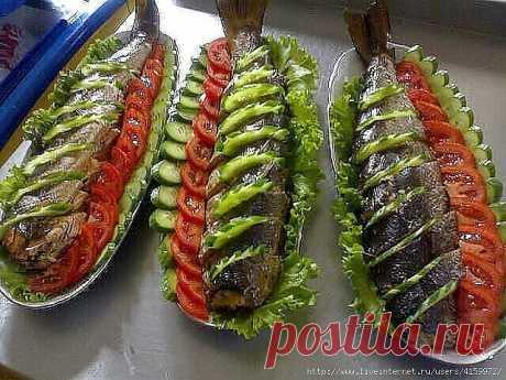 Украшение блюд из рыбы !